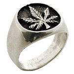 Thumbnail image for Inlayed Pot Leaf - Sterling Silver Ring.jpeg