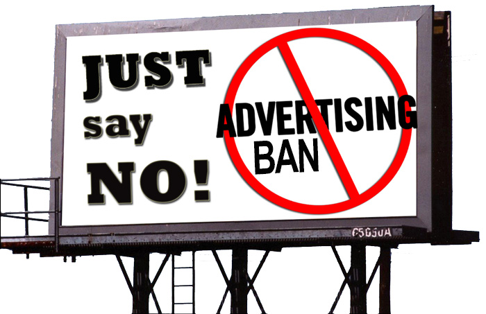Image result for ban on advertising