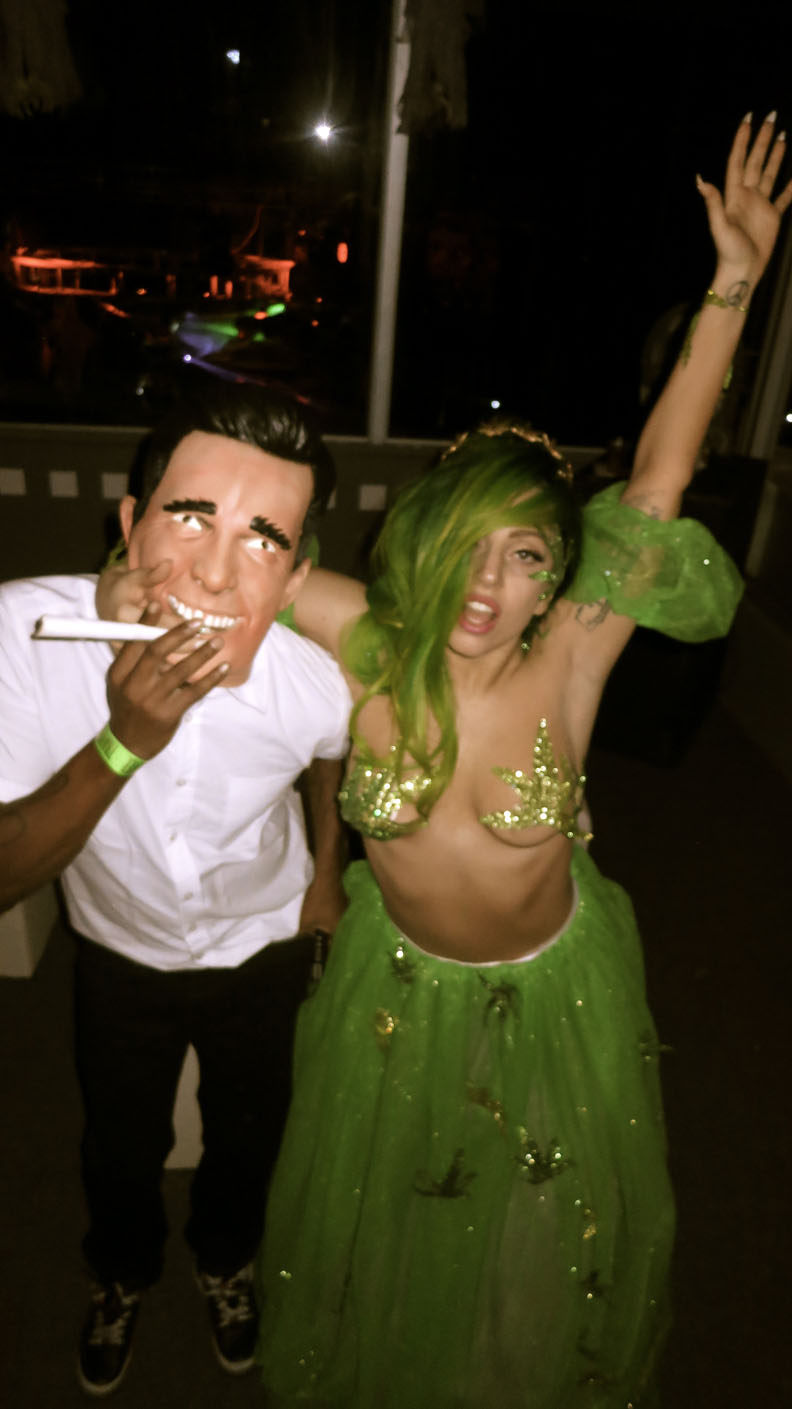 Lady Gaga Became Cannabis Queen For Halloween | Toke of the Town