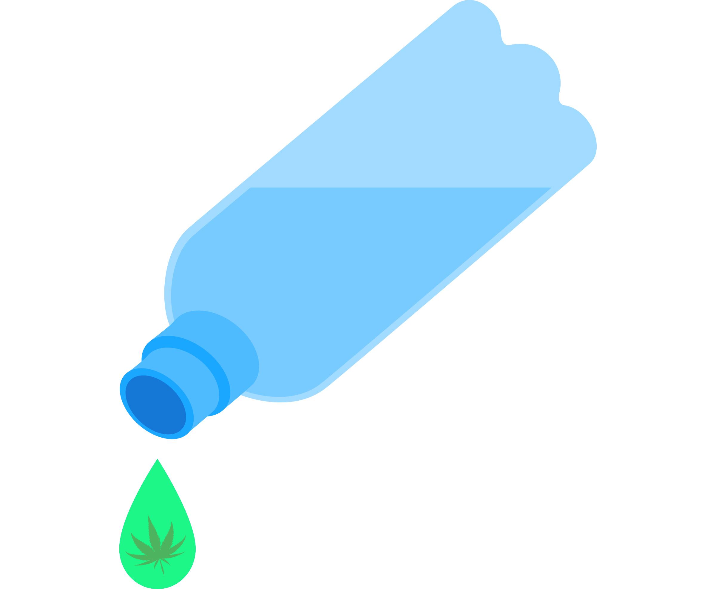 water-bottle-THC-in-water