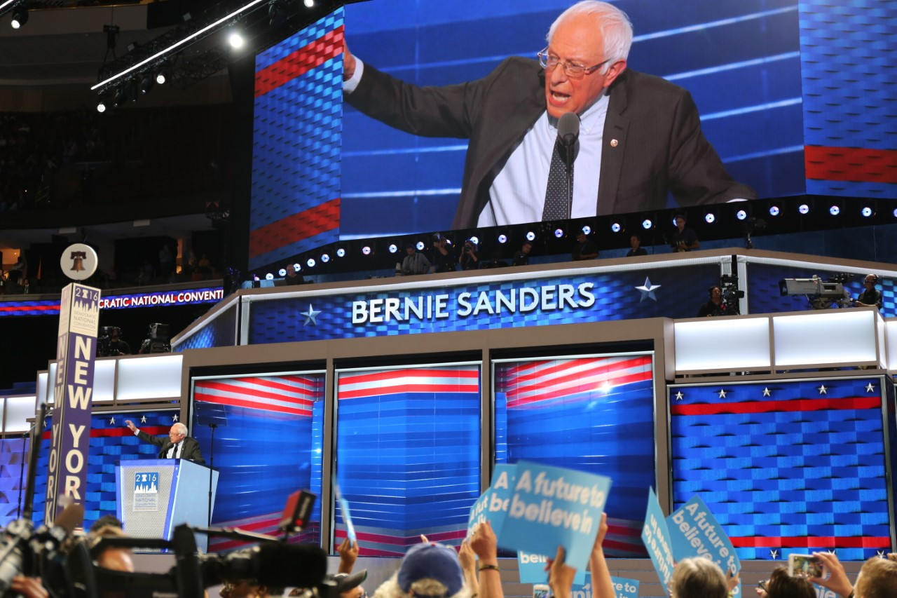 There wasn't much talk of marijuana inside the arena at this year's Democratic National Convention.
