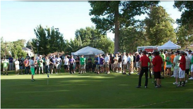 A photo from the Clinic Charity Classic tournament in 2014.