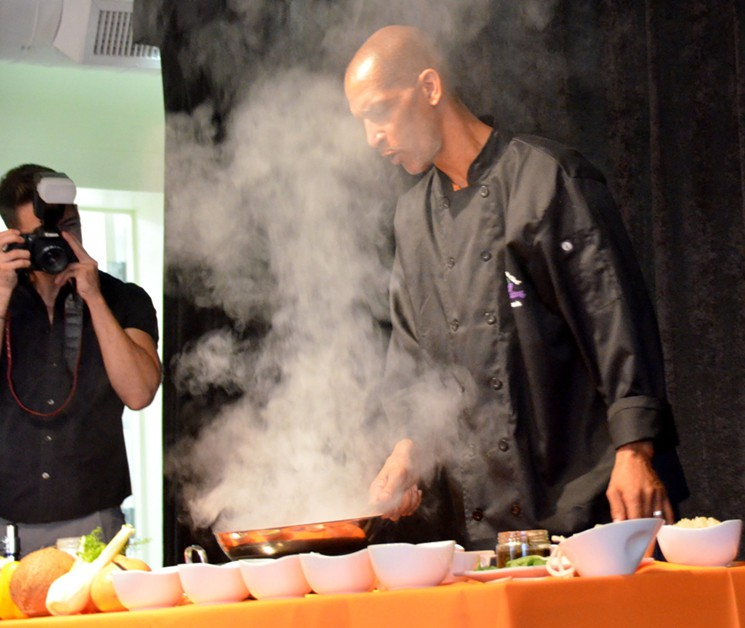 Love, romance and smoke were in the air for the Simply Cooking class with Scott Durrah.
